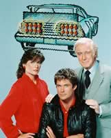 Bonnie, Michael und Deven aus Knight Rider